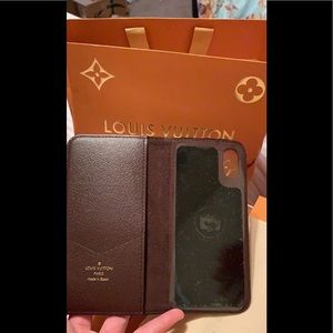 Louis Vuitton Other - Authentic lv i phone X case in good condition